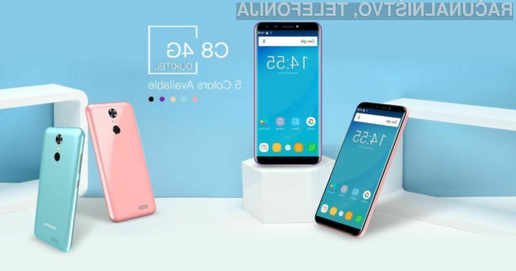 Pametni mobilni telefon Oukitel C8 za malo denarja ponuja veliko!