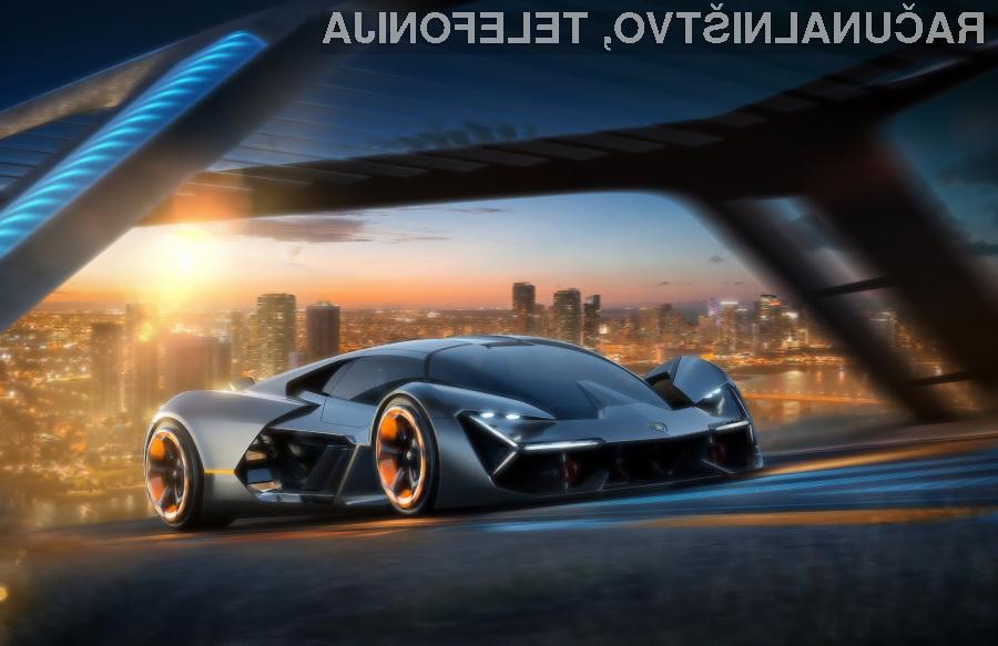 To je futuristični električni Lamborghini, ki se vozi brez baterije