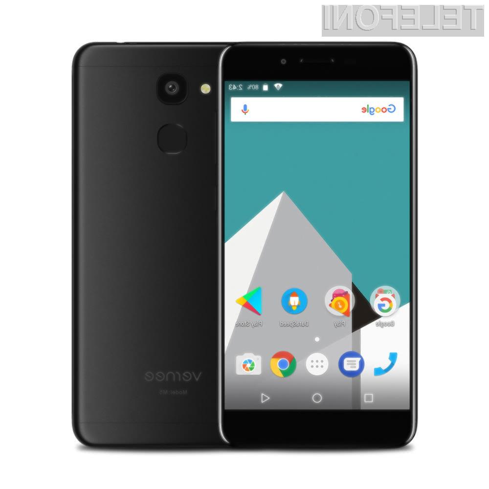 Odličen pametni mobilni telefon Vernee M5 je lahko naš že za dobrih 100 evrov.
