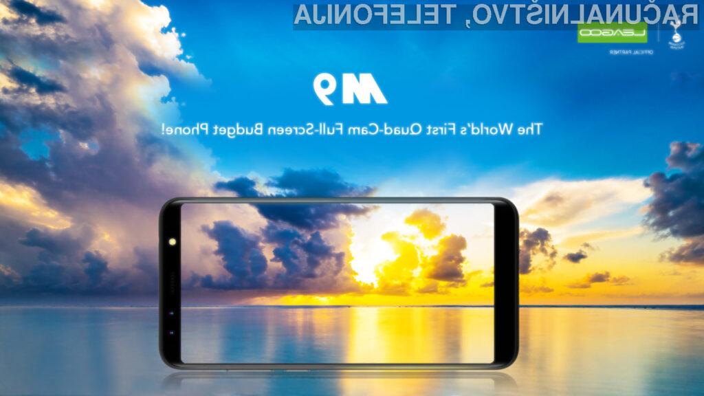 LEAGOO M9 v predprodaji: za 60 dolarjev lahko dobite telefon s 4 kamerami in velikim zaslonom
