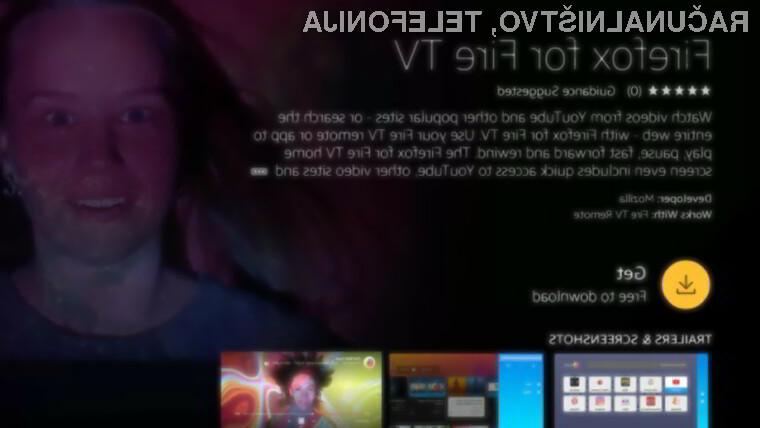 Firefox za Fire TV omogoča poganjanje vseh spletnih storitev, vključno s portalom YouTube!