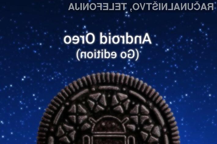 Mobilni operacijski sistem Android Oreo za poceni naprave zaseda kar polovico manj prostora na vgrajenem pomnilniku.