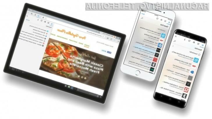 Brskalnik Edge na voljo za Android in iOS