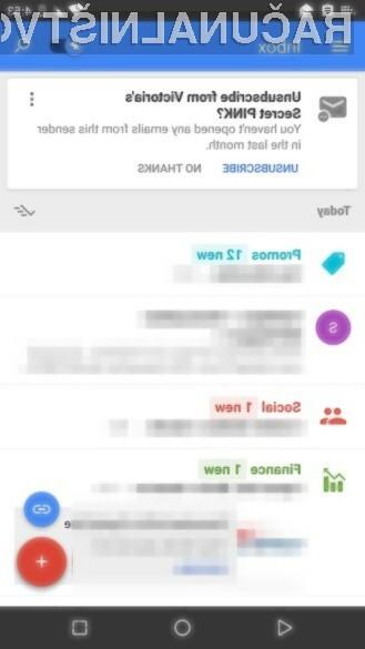 Odjava z distribucijskih list bo s pomočjo elektronskega predala Gmail Inbox kmalu postala nadvse enostavna.