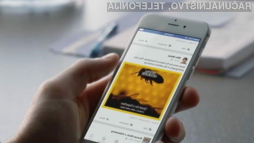 Možnost »snooze« na Facebooku skrije obvestila nadležnih kontaktov za 30 dni.