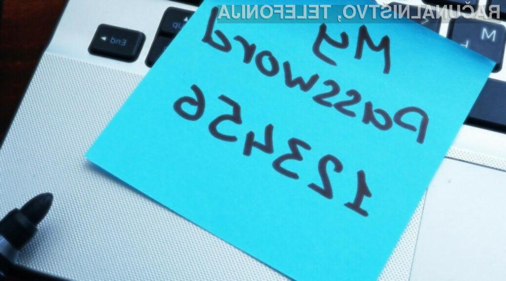 Priljubljenost gesel »123456«, »password« in »12345678« traja že vse od leta 2014.
