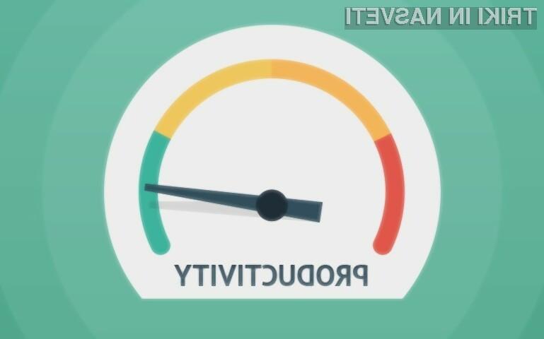 Izboljšajmo svojo produktivnost z nekaj triki