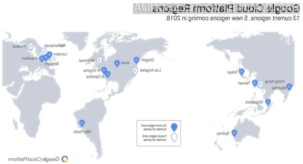 Googlovi podatkovni centri po svetu