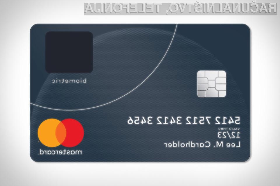 MasterCard predstavlja biometrično kartico