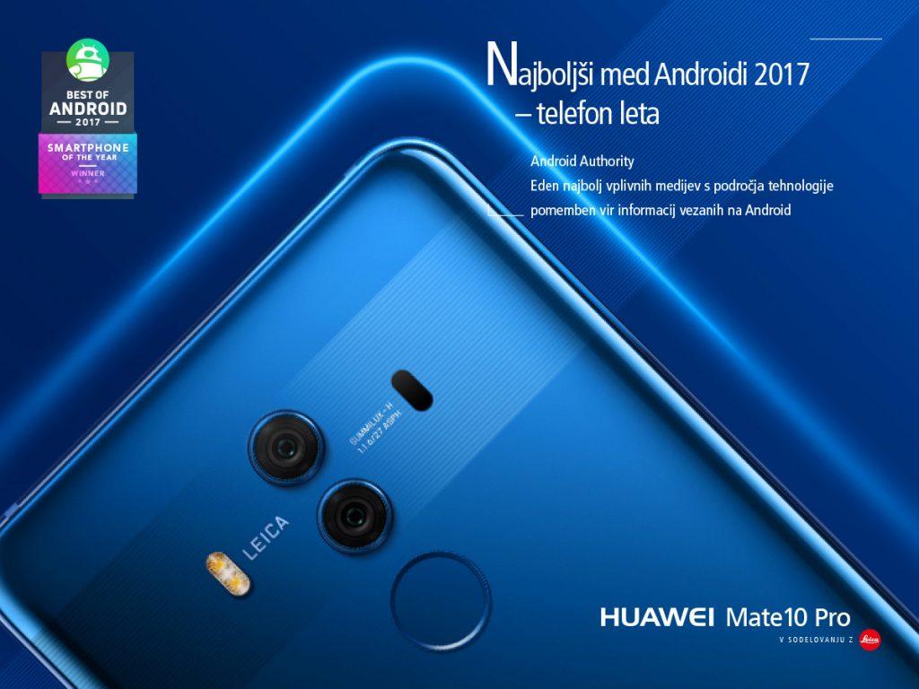 Huawei Mate 10 Pro najboljši telefon leta 2017