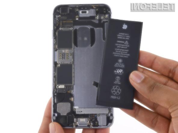 Zamenjava baterije telefona iPhone je odslej 60 evrov cenejša!