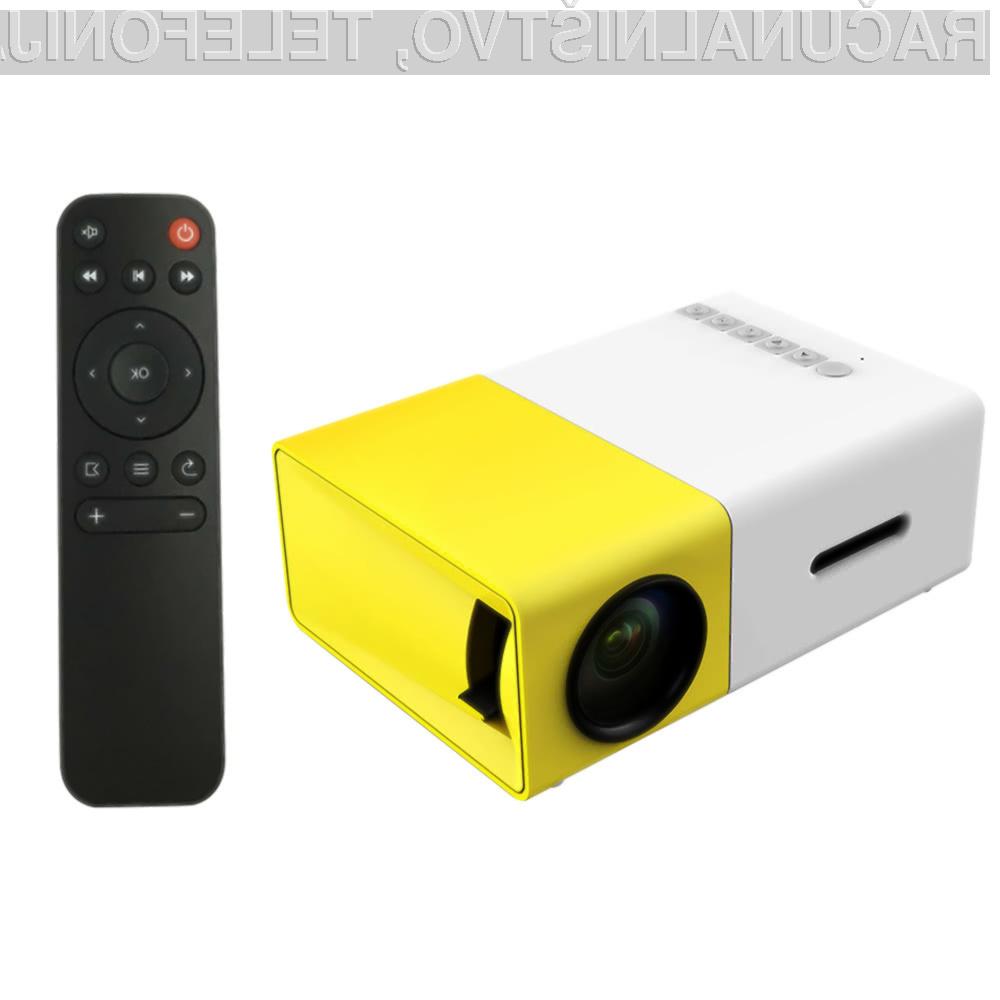 Miniaturni žepni projektor FW1S YG300 nam bo prav prišel za številna opravila!