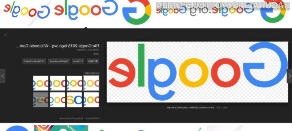 Google odstranil gumb za neposreden ogled slik