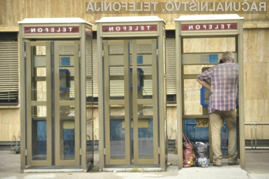 Uporaba telefonskih govorilnic še ni izumrla