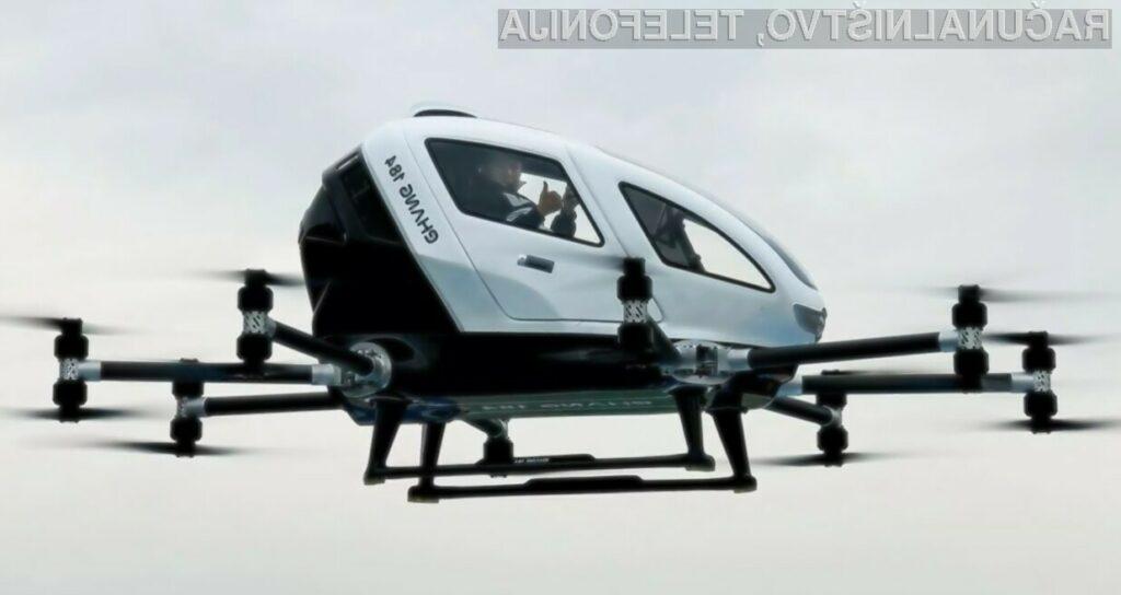 Prevoz ljudi z droni naj bi kmalu postal del našega vsakdana.