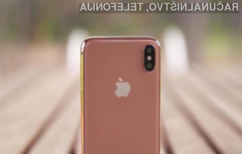 Tako naj bi izgledala zlata različica pametnega mobilnega telefona iPhone X.