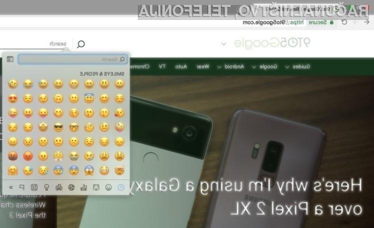 Novi Google Chrome Canary ponuja privzeto podporo za emoje.