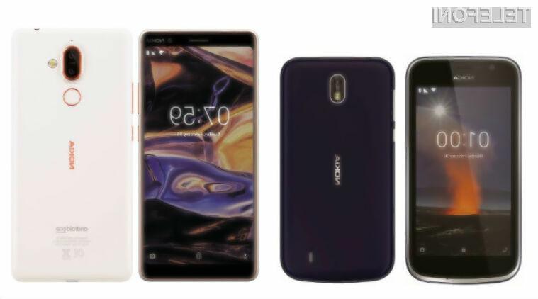 Telefona Nokia 7 Plus in Nokia 1 lahko že preizkusimo in kupimo v Italiji.