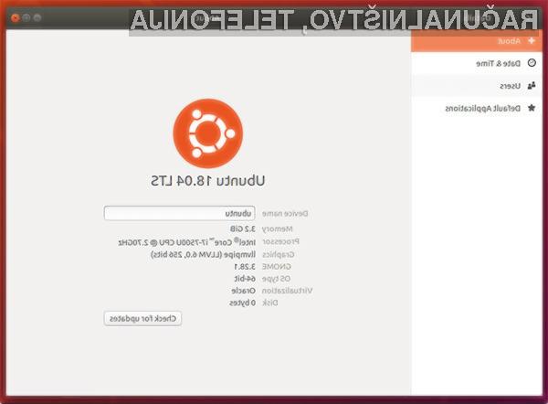 Ubuntu 18.04 LTS je namenjen za tiste, ki želijo dolgoročno podporo za nameščen operacijski sistem!