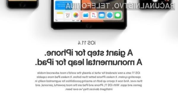 Novi iOS 11.4 prinaša kar nekaj uporabnih možnost!