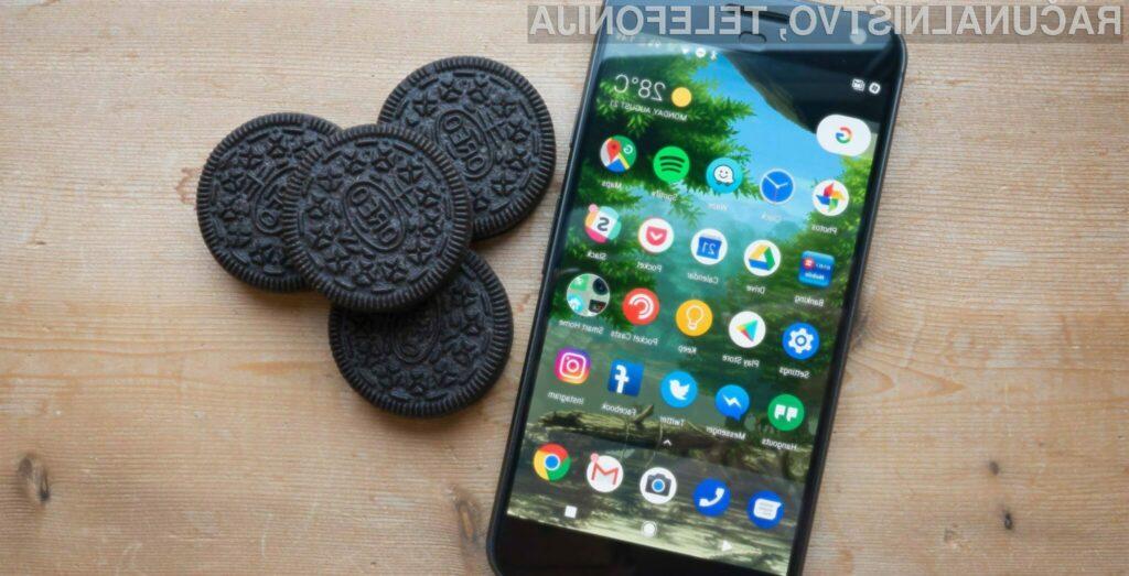 Novejši Android 8 Oreo je trenutno nameščen zgolj na petih odstotkih mobilnih naprav Android.