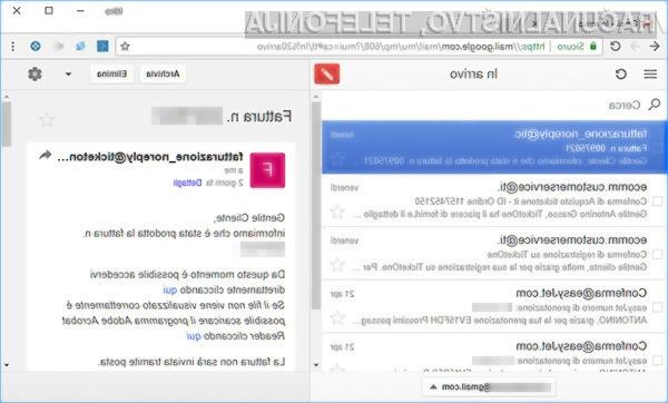 Gmail lahko uporabljate tudi brez internetne povezave