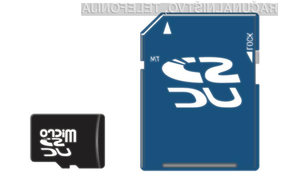Na pomnilniške kartice bomo lahko shranili do 128 terabajtov podatkov