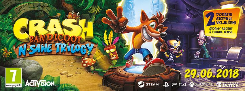 Crash Bandicoot N. Sane Trilogy- Že v prodaji za PC, XB1 in Switch
