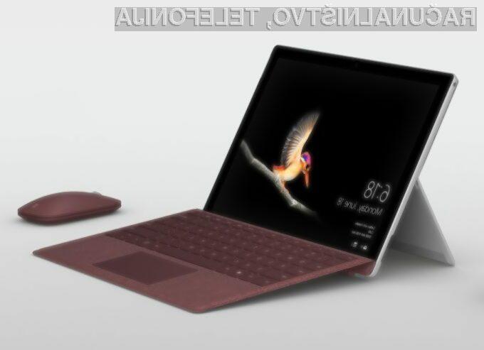 Za tablični računalnik Surface Go bo v evropskem prostoru treba odšteti okoli 400 evrov.