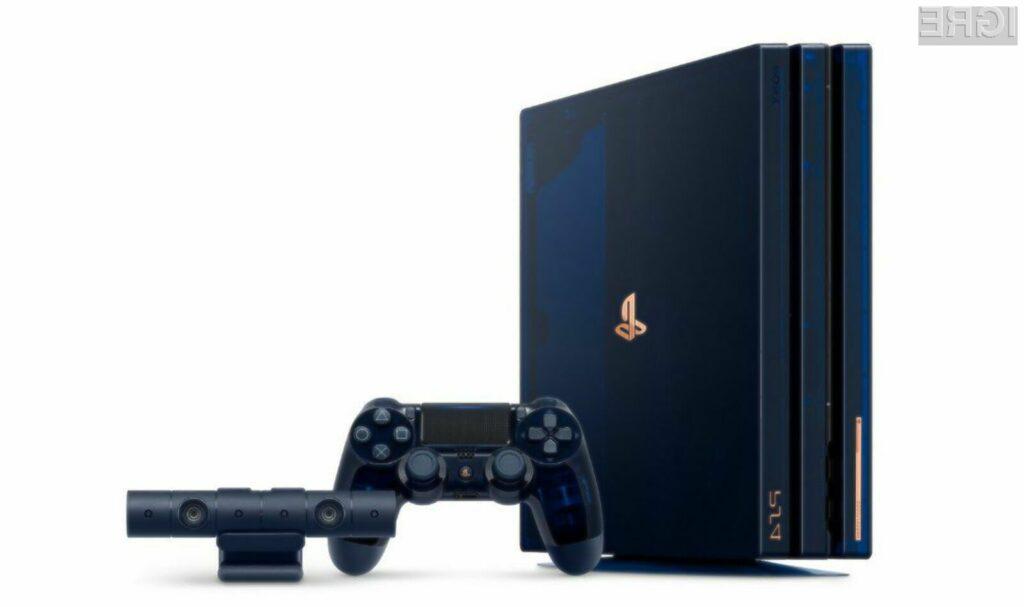 Igralna konzola PlayStation 4 Pro 500 Million Limited Edition bo zagotovo navdušila tudi najzahtevnejše ljubitelje iger.