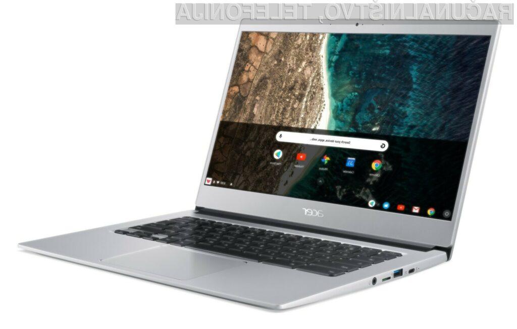 Acer Chromebook 514 je kljub nizki ceni izdelan iz kakovostnih materialov.