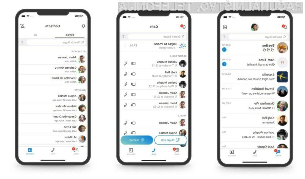 Novi Skype je v primerjavi s predhodikom precej bolj všečen in enostaven za uporabo!
