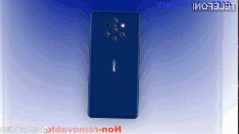 Bo nova Nokia 9 zares opremljena s kar petimi zadnjimi kamerami?