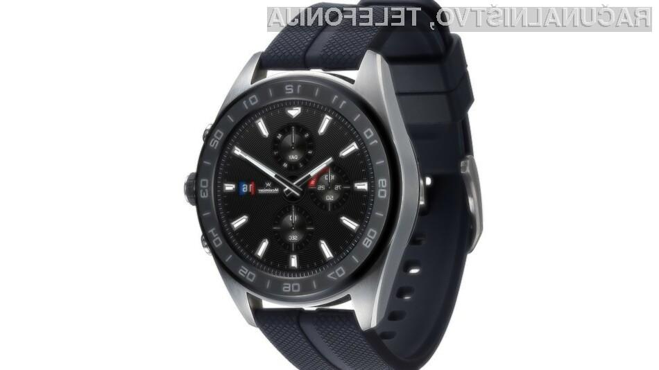 Pametna ročna ura LG Watch W7 je primerna tudi za poslovna okolja.