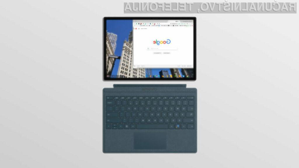 Pri novem tabličnem računalniku Google bo uporabnik ob zagonu izbral bodisi Chrome OS bodisi Windows 10.