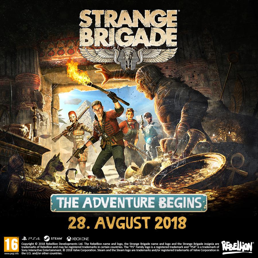 Strange Brigade že v prodaji