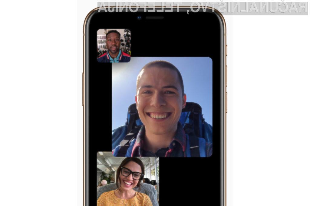 Novi iOS 12.1 omogoča skupinske video klice preko storitve FaceTime.