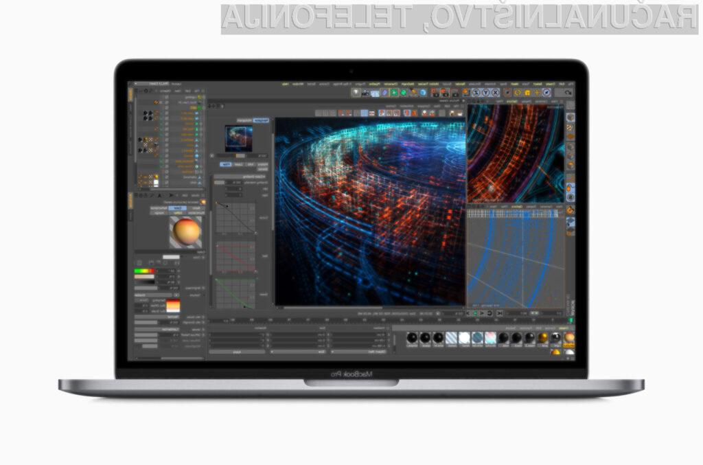 Nove prenosne računalnike Apple MacBook Pro bomo lahko brez težav uporabljali tudi za grafično oblikovanje.