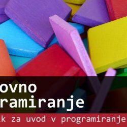Naslovnica e-učbenika Slikovno programiranje