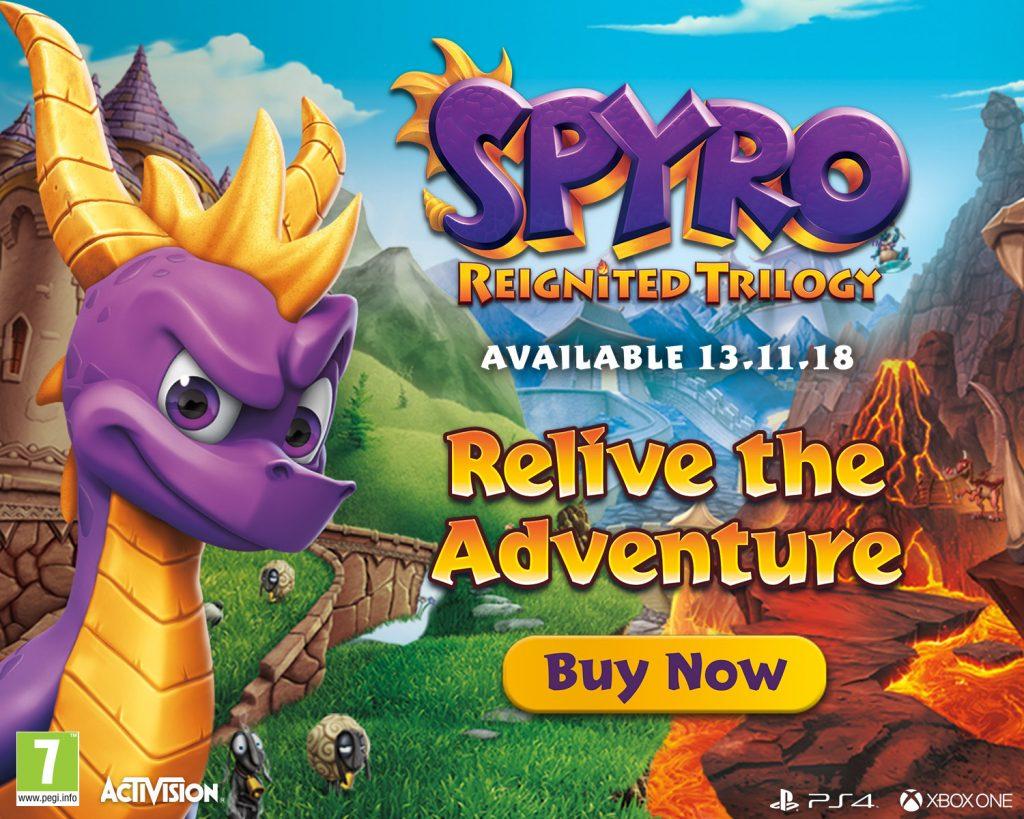 Spyro Reignited Trilogy v prodaji
