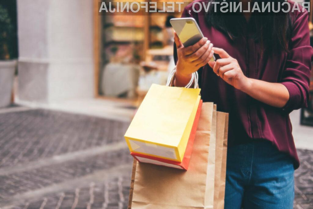 Pametni mobilni telefoni postajajo vse bolj priročni za nakupovanje preko spleta.