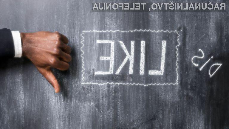 Uporabniki svetovnega spleta najmanj zaupajo podjetju Facebook.