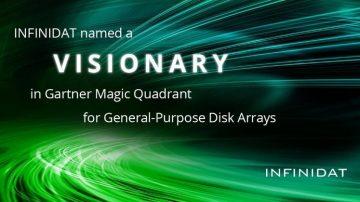 """NFINIDAT je podjetje Gartner Inc. imenovalo v kvadrant """"Leader"""" v letnem poročilu """"2018 Magic Quadrant for General-Purpose Disk Arrays""""."""