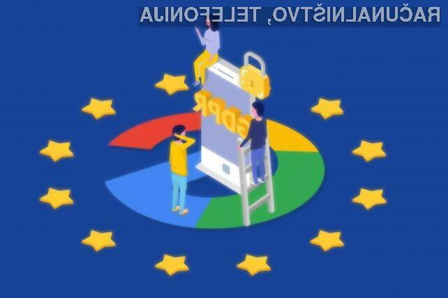Google je kazen prejel zaradi neustreznega ravnanja z osebnimi podatki uporabnikov.