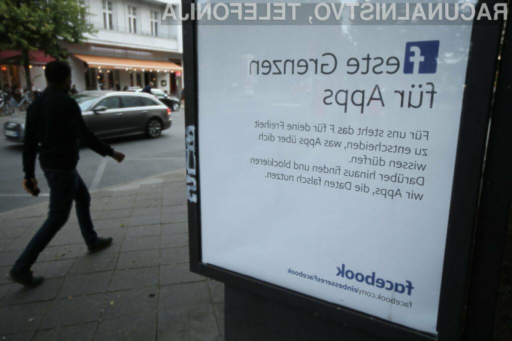 Nemčija naj bi omejila osebne podatke, ki jih lahko Facebook zbira o uporabnikih njegovih storitev.