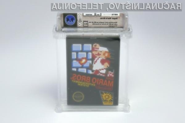 Legendarna igra Super Mario Bros je bila prodana za kar preračunanih 88.552 evrov.