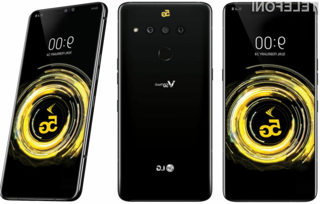 Pametni mobilni telefon LG V50 ThinQ je eden prvih s podporo za mobilna omrežja 5G.