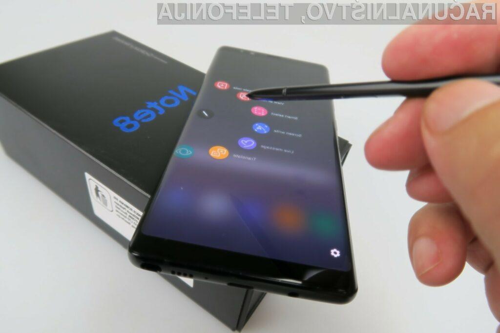 Priljubljeni Samsung Galaxy Note 8 je vendarle dočakal posodobitev na novi Android 9.0 Pie.
