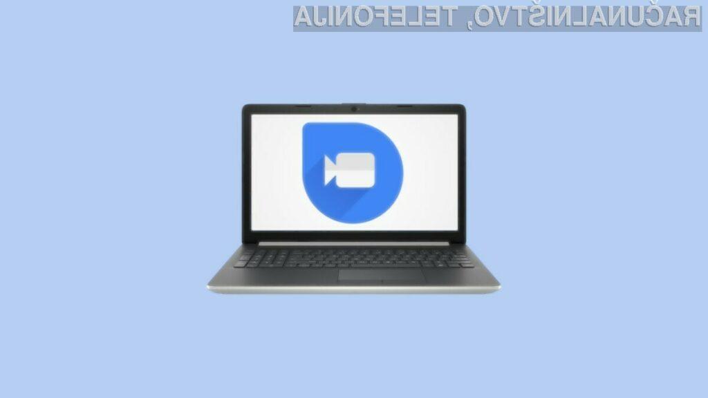 Storitev Google Duo lahko odslej uporabljamo tudi v spletnem brskalniku.