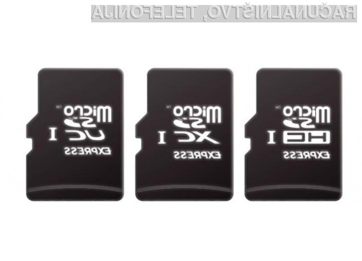 Prve pomnilniške kartice združljive z novim standardom microSD Express naj bi na trgu ugledali kmalu.